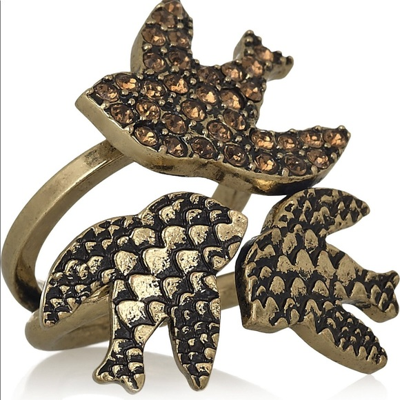 Marc by Marc Jacobs brass bird ring